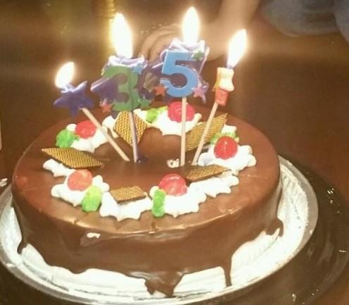 Chocolate milk cake, yum