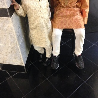 My boys in their best Indian party wear
