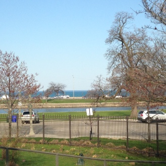 You can see Lake Shore Drive in the distance