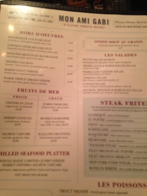 Half the menu consisted of alcohol :(