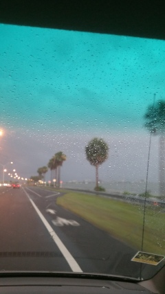 It stormed like crazy on our way back to the hotel