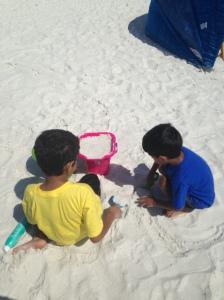 Making sand castles