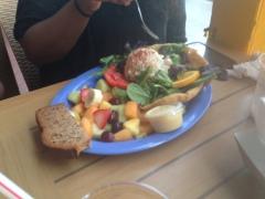 Crab and grouper salad