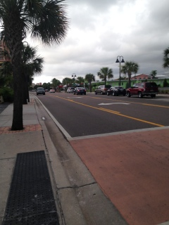 Clearwater sidewalk, where they are super nice to pedestrians