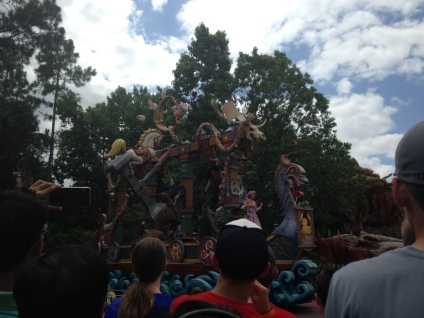 Disney movies/characters parade